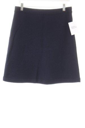 Chanel Jupe tricotée bleu foncé style classique