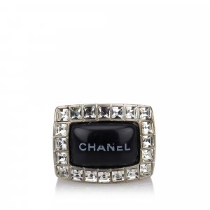 Chanel Anillo color plata metal