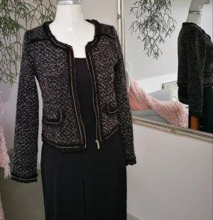 Amisu Short Jacket white-silver-colored cotton