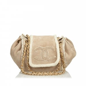 Chanel Suede Chain Shoulder Bag