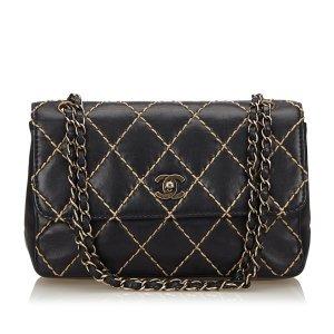 Chanel Surpique Calf Leather Chain Shoulder Bag