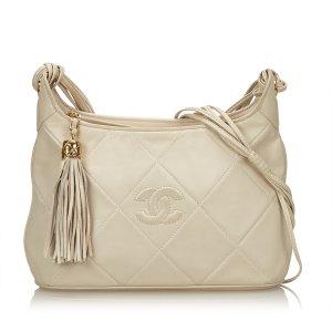 Chanel Surpique Lambskin Leather Shoulder Bag