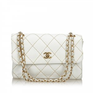 Chanel Surpique Leather Flap Bag