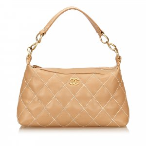 Chanel Surpique Leather Shoulder Bag