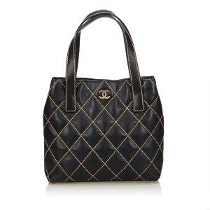 Chanel Surpique Leather Tote Bag