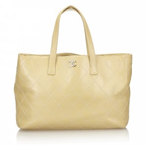 Chanel Surpique Leather Tote Bag