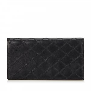Chanel Surpique Leather Two Fold Wallet