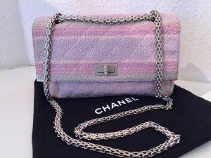 CHANEL Tasche 2.55 Rosa Lila Pastell Grau Blau Silber Kette Shoulder Bag Pink