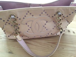 Chanel Carry Bag dusky pink leather