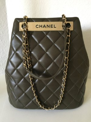Chanel Handtas goud-bruin Leer
