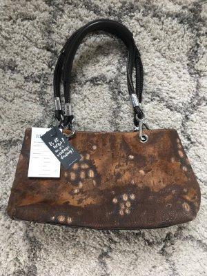 Chanel Tasche, braunes Leder, silberne Details