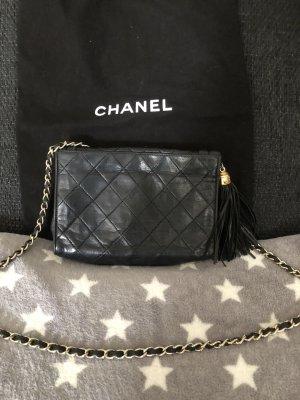 Chanel Gekruiste tas zwart-goud