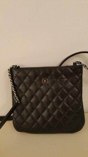 Chanel Minitasje zwart Leer