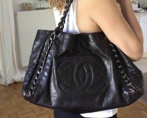 Chanel Borsetta marrone scuro-marrone-viola