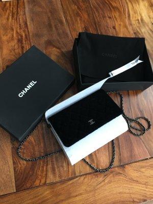 Chanel Tasche Samt mit Silber Hardware