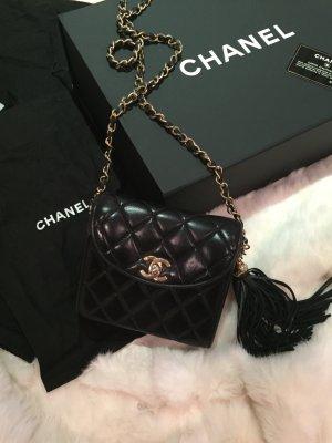 Chanel Tasche schwarz timeless mini mit Tassle Quaste