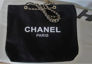 Chanel Borsa shopper nero-oro
