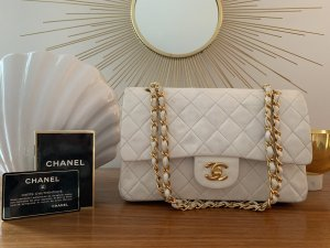 Chanel Carry Bag white-gold-colored