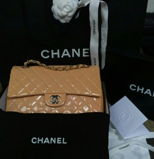 Chanel Timeless Bicolor Medium Double Flap Bag