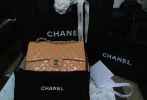 Chanel Sac orange clair-vieux rose cuir