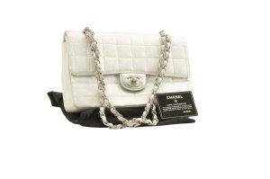 Chanel Shoulder Bag silver-colored textile fiber