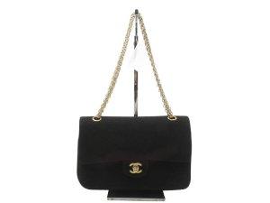 Chanel Shoulder Bag black cotton