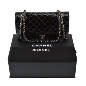 CHANEL Timeless Lackleder Medium Flap Bag @mylovelyboutique.com