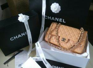 Chanel Bolsa naranja claro-rosa empolvado