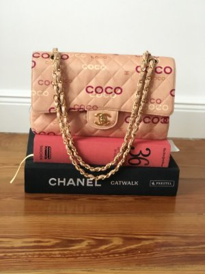 Chanel Timeless Medium Stoff Rosa