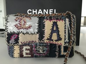 Chanel Borsetta multicolore Lino