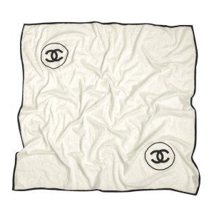 CHANEL Tuch mit CC Logo aus Kaschmir und Seide