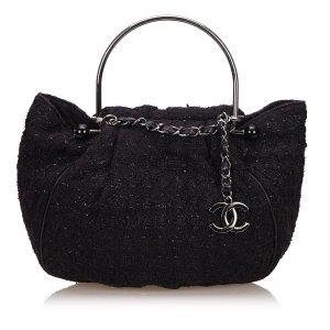 Chanel Tweed Boucle Knitting Handbag