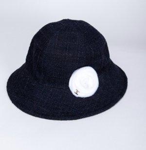 Chanel Woolen Hat white-dark blue