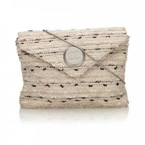 Chanel Tweed Chain Envelope Bag