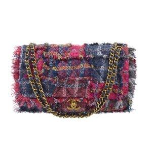 Chanel Tweed Flap Bag Fringes Handtasche @mylovelyboutique.com