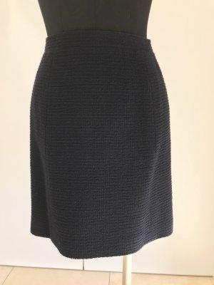 Chanel Falda de talle alto azul oscuro