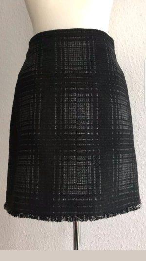 Chanel Jupe en tweed noir-gris