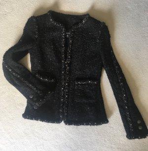 Chanel Tweed blazer zwart-grijs