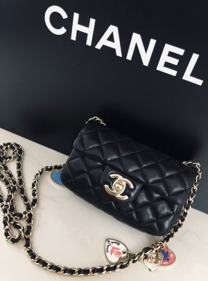 CHANEL Valentine MINI Flap Bag SCHWARZ Special LIMITED EDITION
