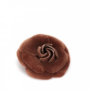 Chanel Velour Camellia Brooch