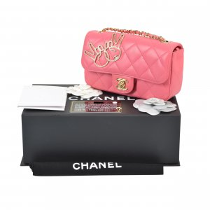 Chanel Victory Peace Sign Mini Flap Bag @mylovelyboutique.com