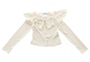 Chanel Blouse oatmeal polyester