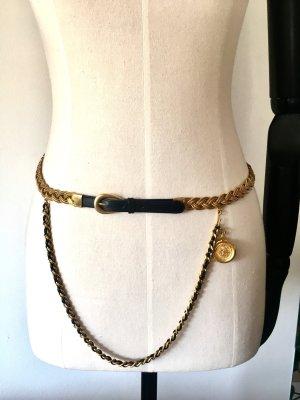 Chanel Vintage Gold Kette leder Gürtel