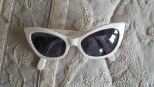 Chanel Vintage Sonnenbrille - weiß Cateye