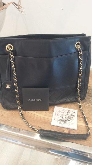 Chanel Borsa blu scuro Pelle