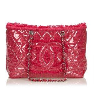 Chanel Bolso de compra rosa clorofibras