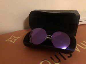 Chanel Glasses silver-colored-dark violet