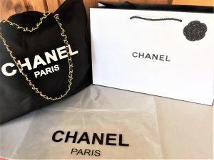 Chanel  Vip-Gift Denim/BaumwolleTasche/Shopper mit Gold-Kette groß 43x34x8cm-