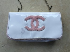 Chanel Handbag white-neon pink synthetic material