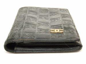 CHANEL Wallet  Grained Leather Geldbörse Leder Schwarz